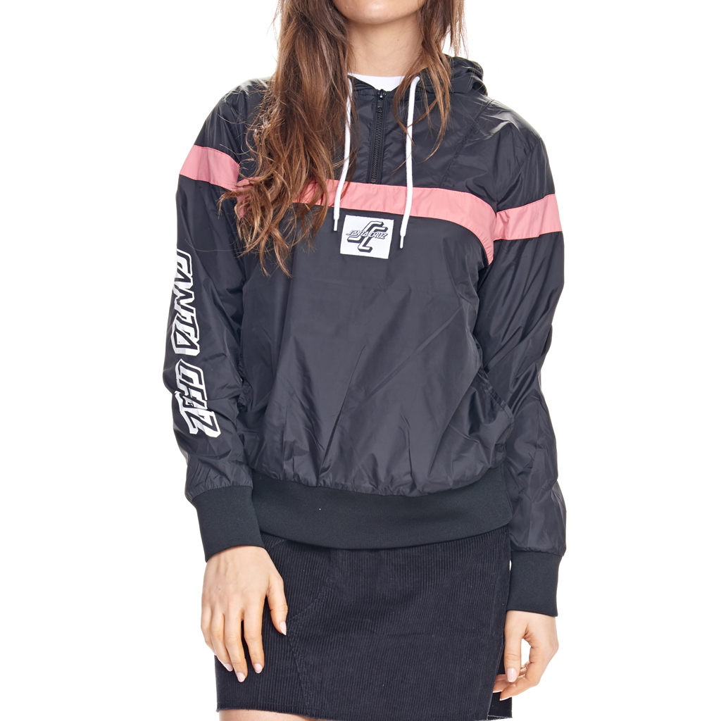 Santa Cruz OGSC 1/2 Zip Windbreaker Black