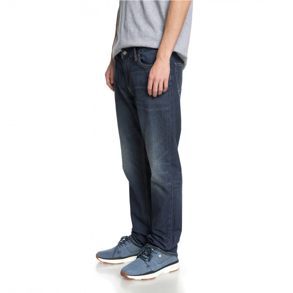 DC Worker Straight Stretch Jeans Medium Stone