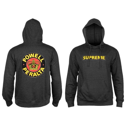 Powell Peralta Charcoal Supreme Popover Hood