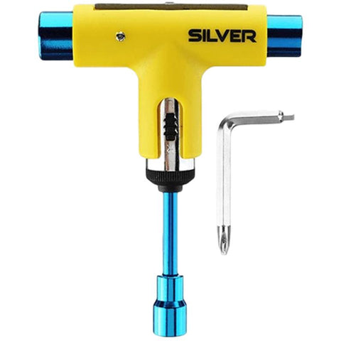 Silver Skate Tool Neon Yellow / Blue