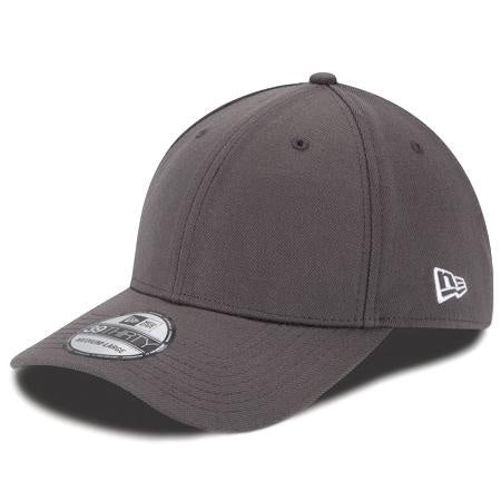 New Era 39Thirty Blank Fitted Cap Graphite