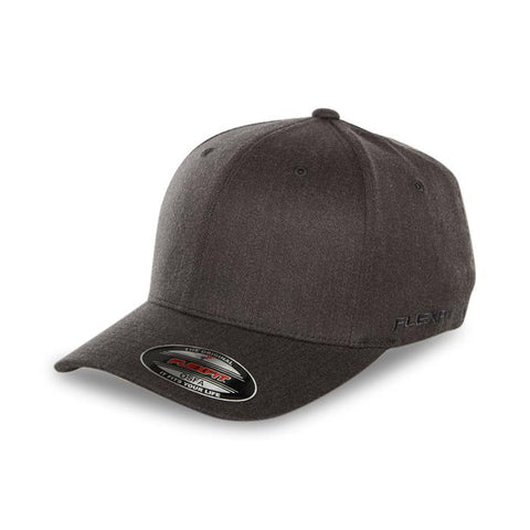 Flexfit Staple Wool Blend Fitted Cap Heather Charcoal