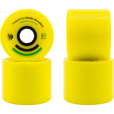 Bustin Boards Premier Wheels 70mm 78a Yellow 4 Pack