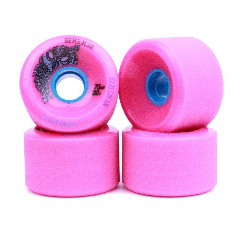 Remember Wheels Hoot Slide 70mm 80a Pink 4 Pack