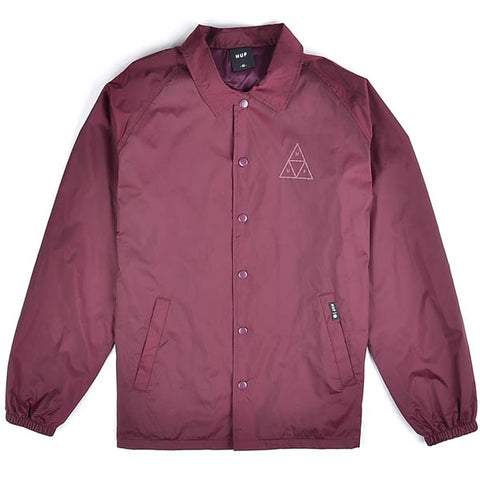 Huf Coach Jacket Burgundy
