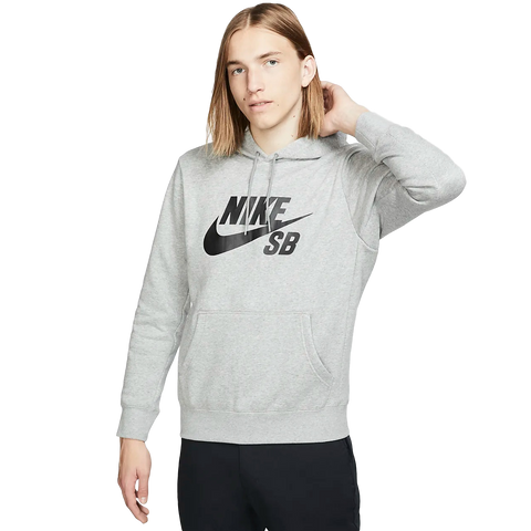 Nike SB Icon Hoodie Heather Grey / Black