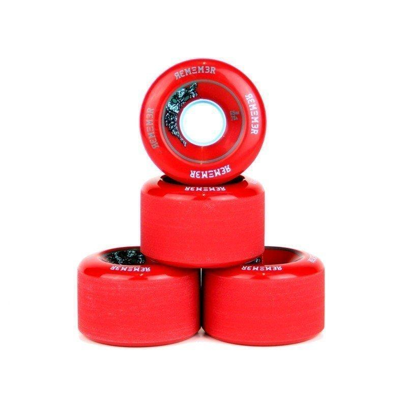 Remember Wheels Lil Hoot 65mm 78a Red 4 Pack