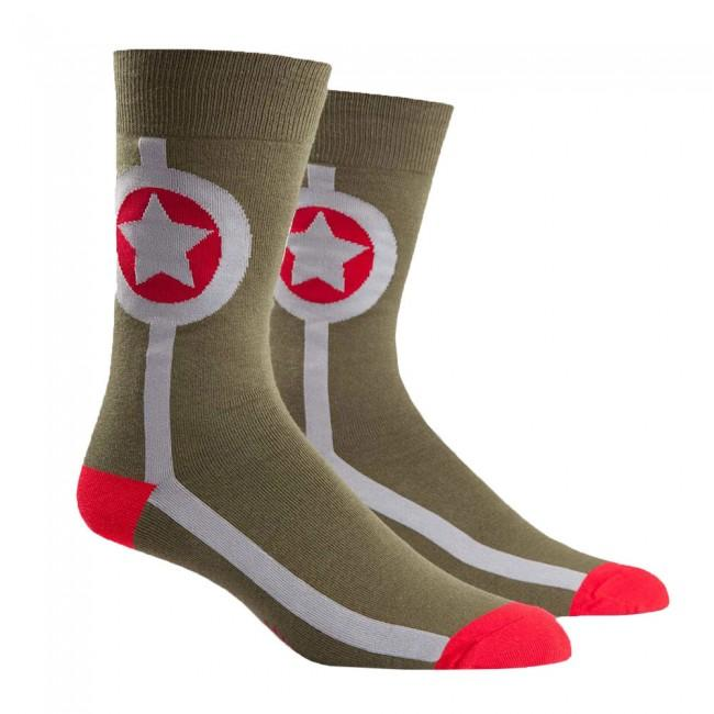 Sock it to Me Army Star Mens Crew Socks