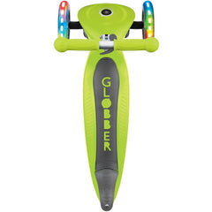 Globber 3 Wheel Primo Foldable Lights Scooter Green
