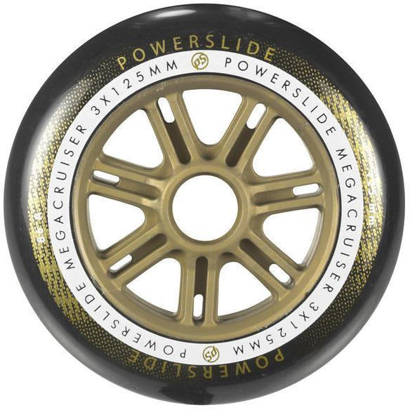 Powerslide Mega Cruiser Wheel 125mm 86a Gold Each