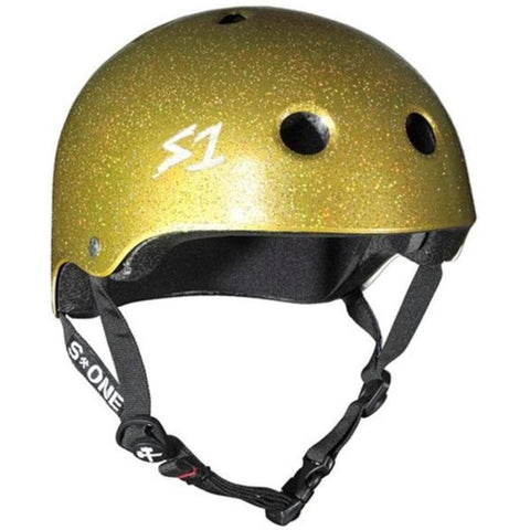 S-One Lifer Gold Glitter Helmet