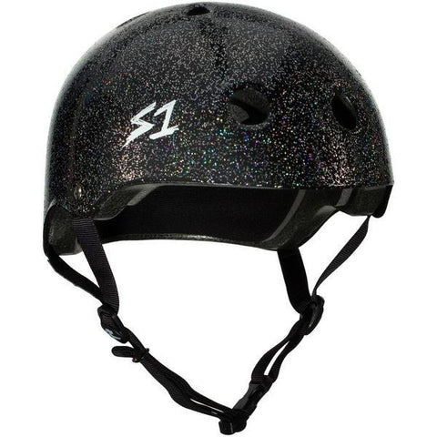 S-One Lifer Black Gloss Glitter Helmet