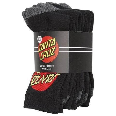 Santa Cruz Classic Dot Youth Socks Black