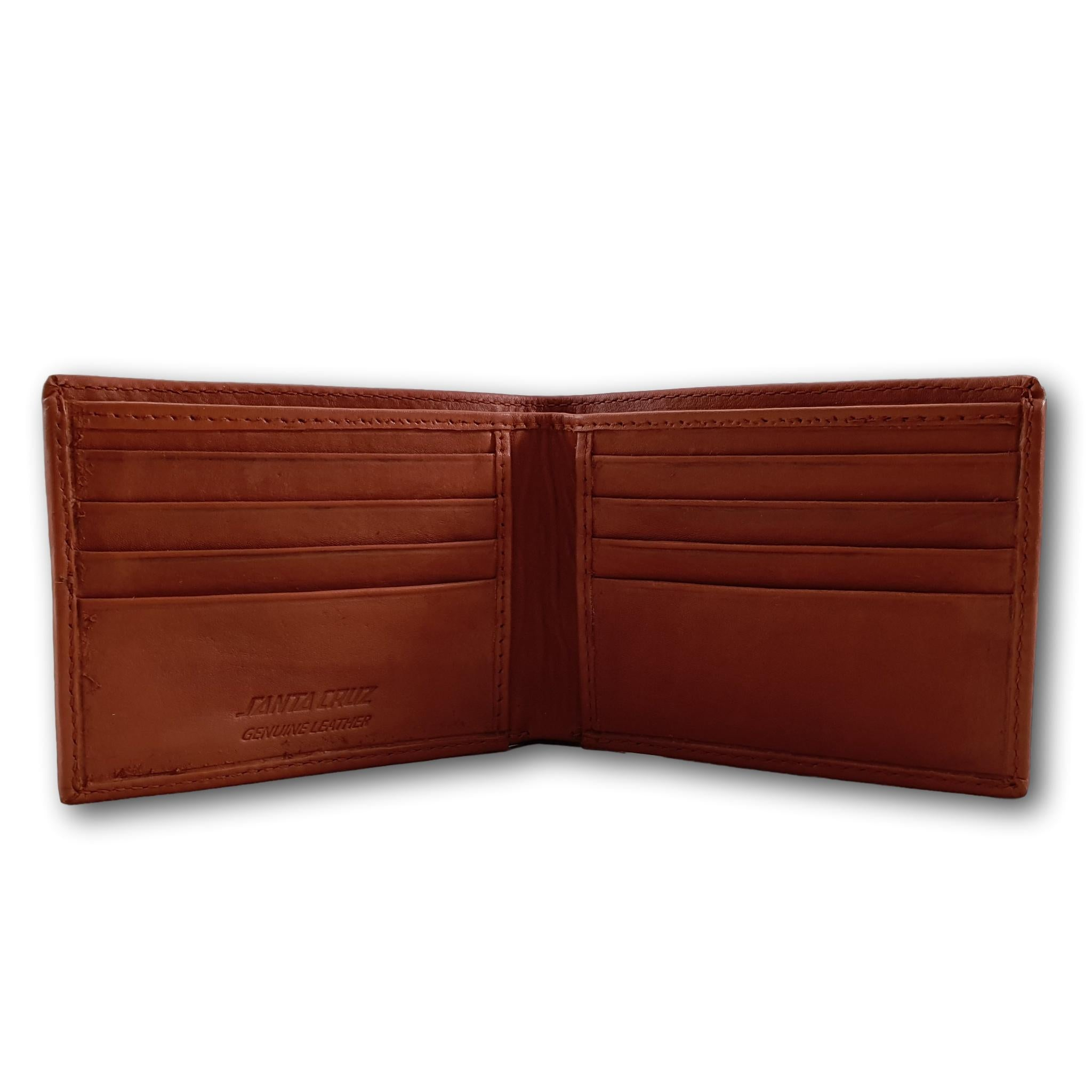 Santa Cruz Strip Premium Leather RFID Protect Wallet Tan