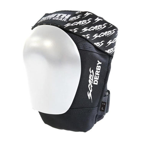 Smith Scabs Derby Knee Pad Black w White Caps