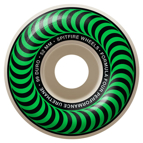 Spitfire Formula Four Classic Green Wheels 99 Duro 52mm