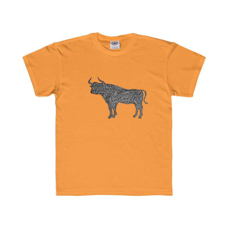 Durham Gray Bull  Children's T-Shirt - HEATHLEAF
