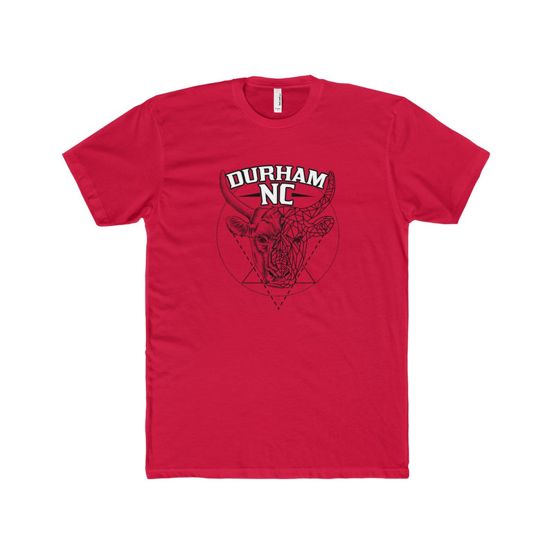 Durham Geometric Bull Head  Men's T-Shirt
