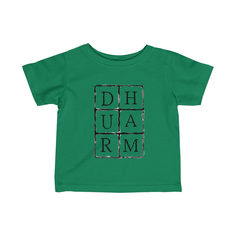 Durham Block Letters  Infant's T-Shirt - HEATHLEAF