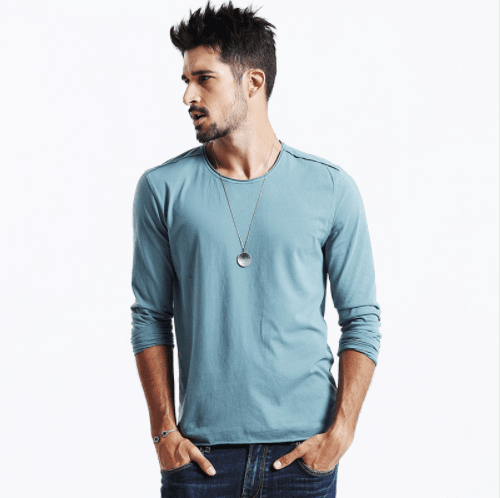New Arrival Men's Causal Fashion Shirt - Men's Long Sleeve Tee - HeathLeaf