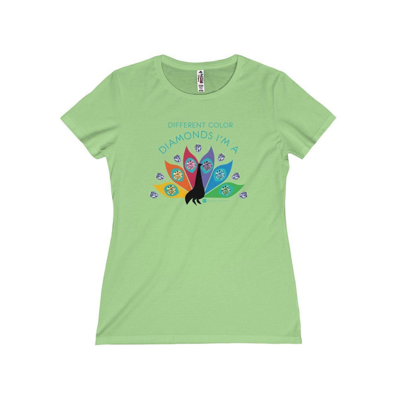 Diamond Peacock  Women's T-Shirt - HEATHLEAF