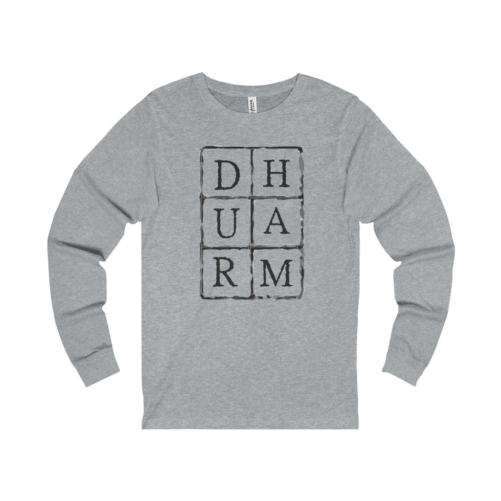 Durham Block Letters  Long Sleeve Tee