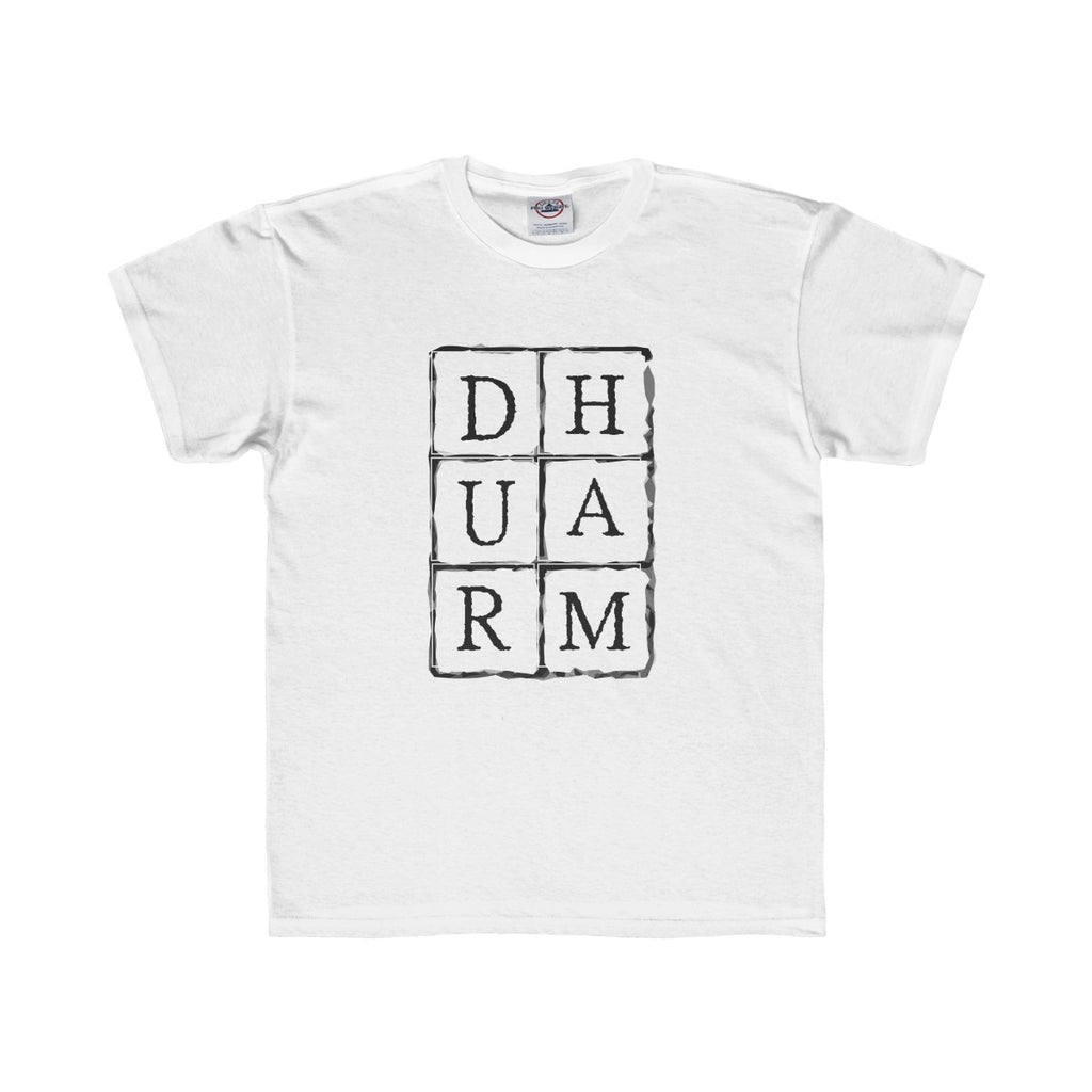 Durham Block Letters  Children's T-Shirt - HEATHLEAF