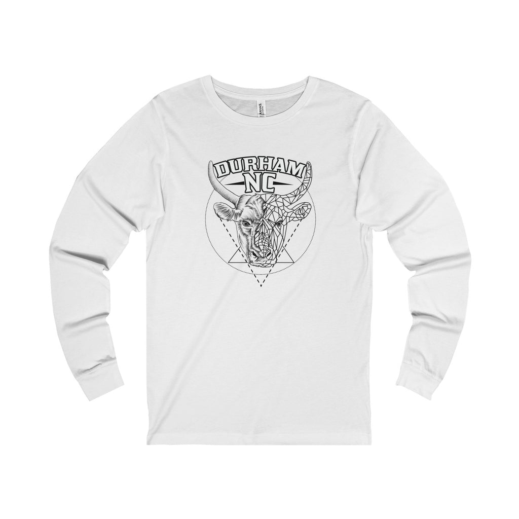 Durham Geometric Bull Head  Long Sleeve Tee - HEATHLEAF