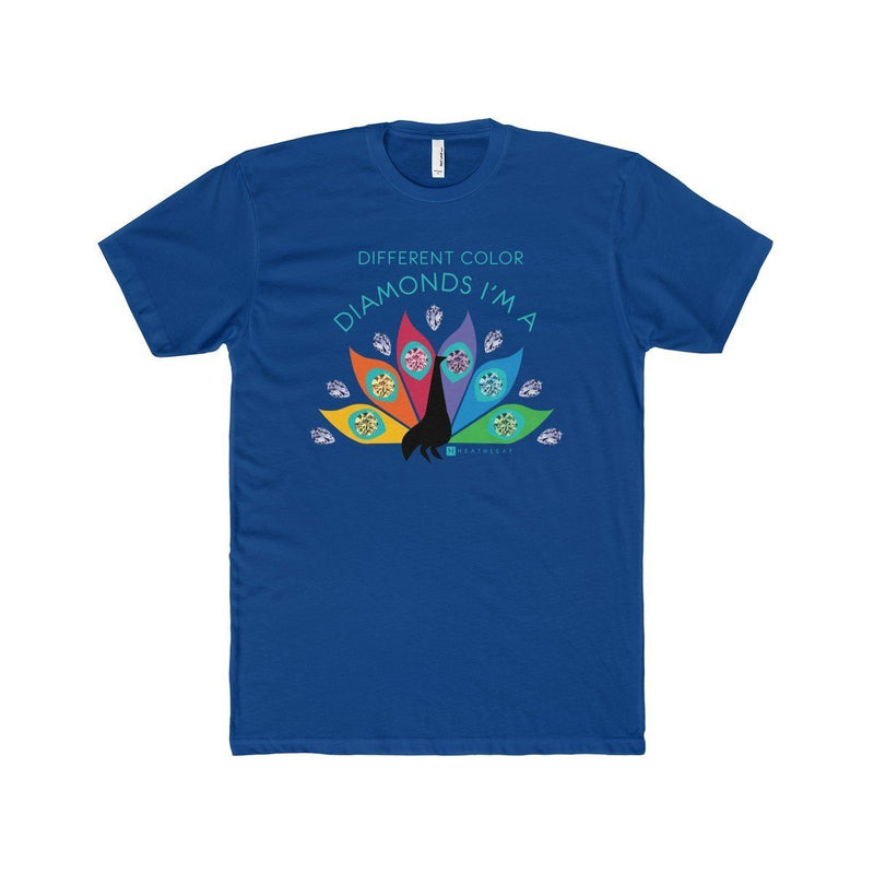 Diamond Peacock  Men's T-Shirt - HEATHLEAF