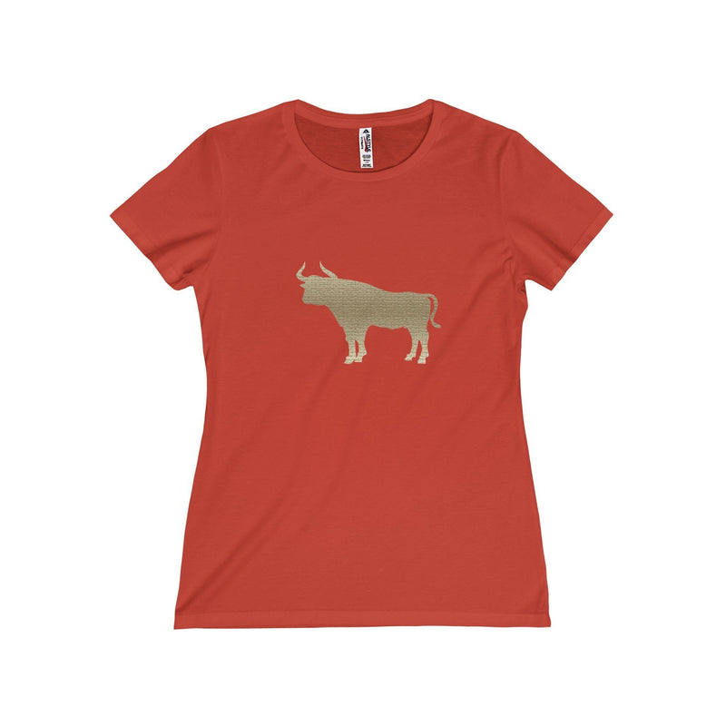 Durham  Tan Bull  Women's T-Shirt - HEATHLEAF
