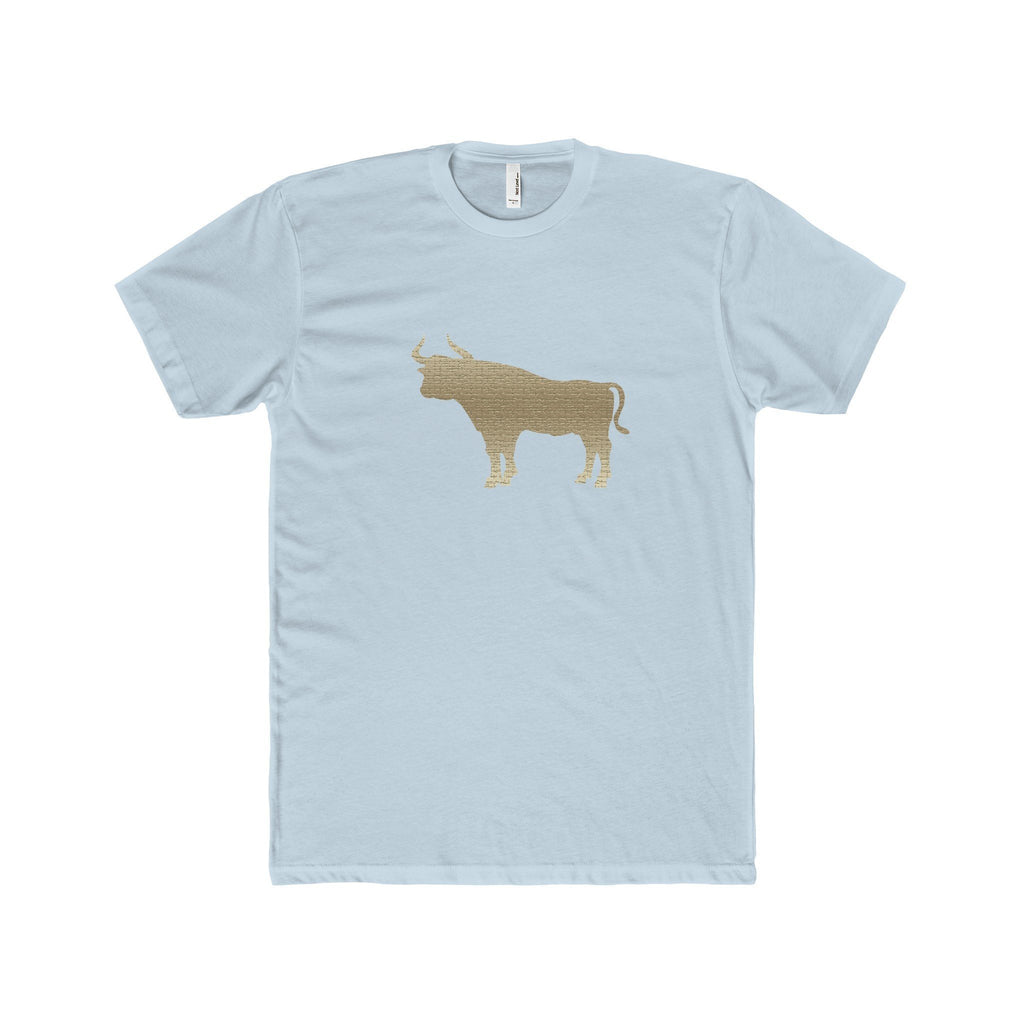 Durham Tan Bull Men's T-Shirt - HEATHLEAF