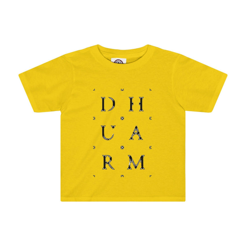 Durham Block Letters Distorted  Toddler's T-Shirt - HEATHLEAF