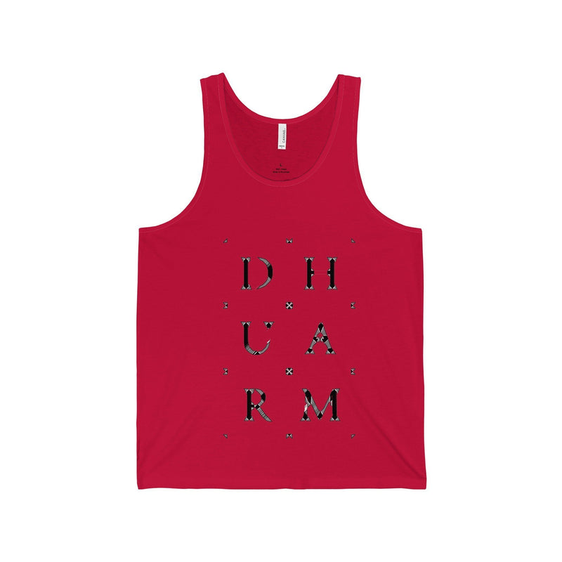 Durham Block Letters Distorted  Tank Top