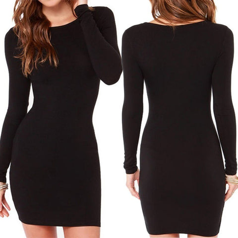 Hollow Neck Bodycon Dress