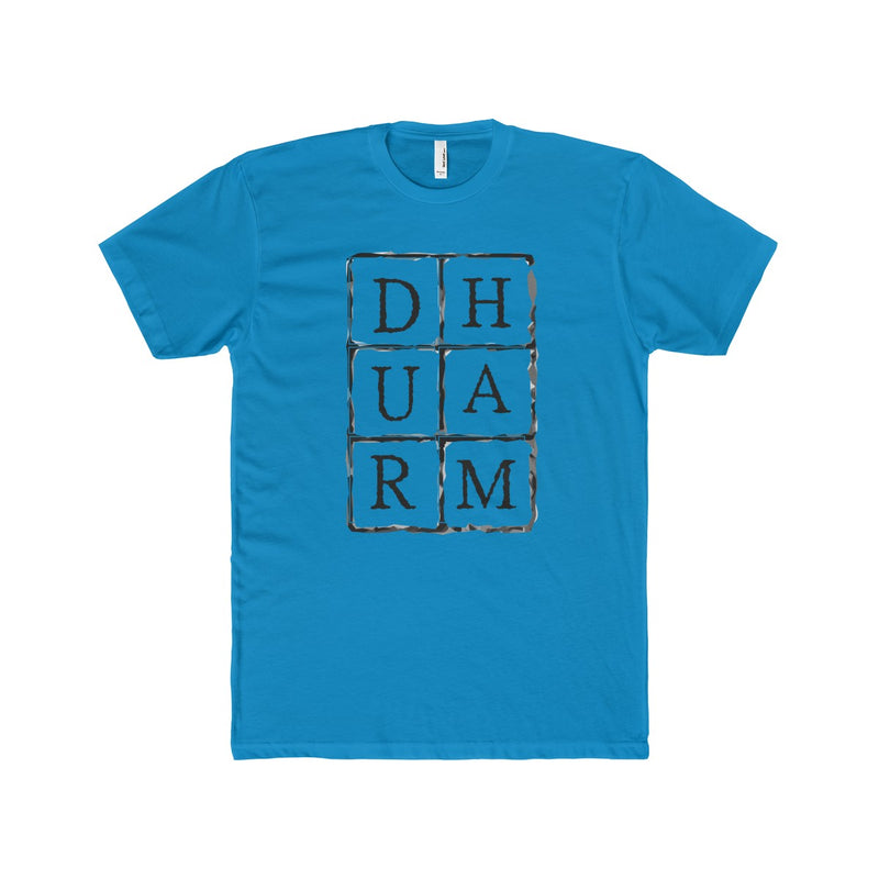 Durham Block Letters  Men's T-Shirt - HEATHLEAF