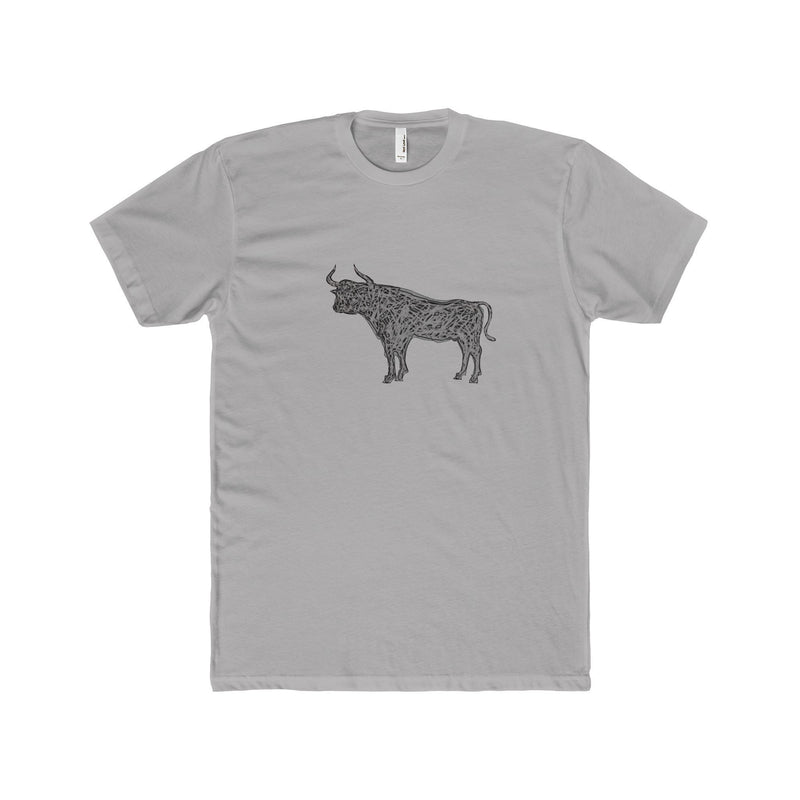 Gray Bull  Men's T-Shirt - HEATHLEAF