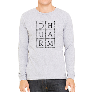 Durham Block Letters - Unisex Long Sleeve Tee - HeathLeaf
