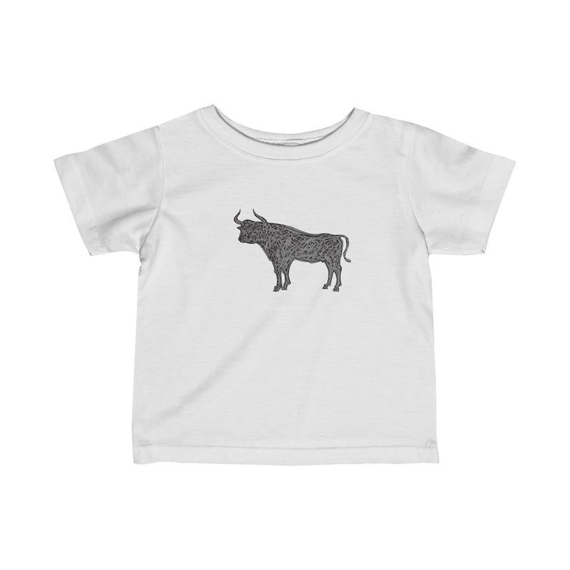 Gray Bull  Infant's T-Shirt - HEATHLEAF