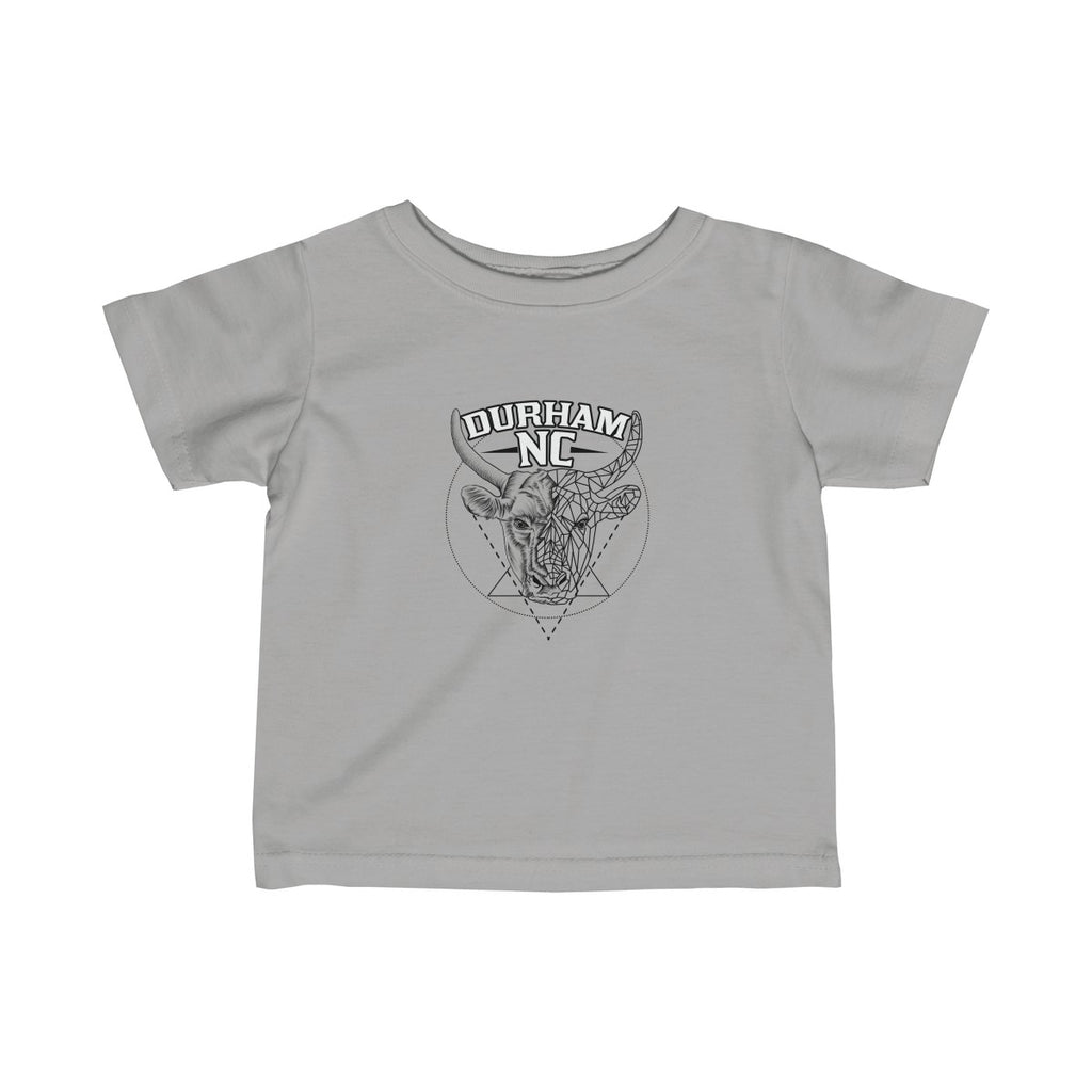 Durham Geometric Bull Head  Infant's T-Shirt - HEATHLEAF