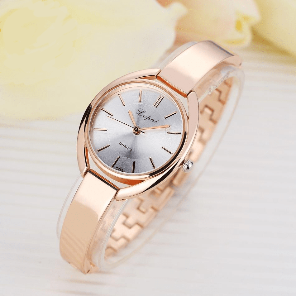 Luxury Women Dress Rose Gold Quartz Watch