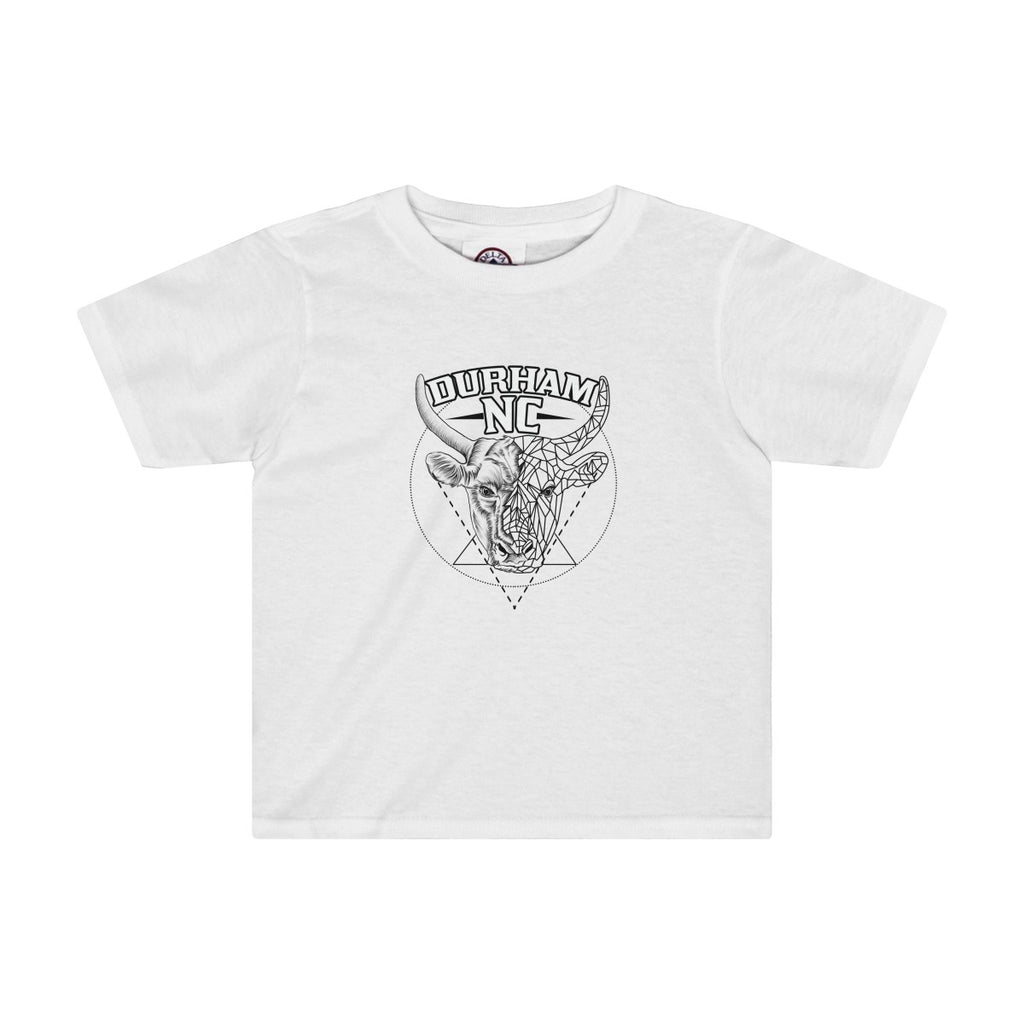 Durham Geometric Bull Head  Toddler's T-Shirt - HEATHLEAF