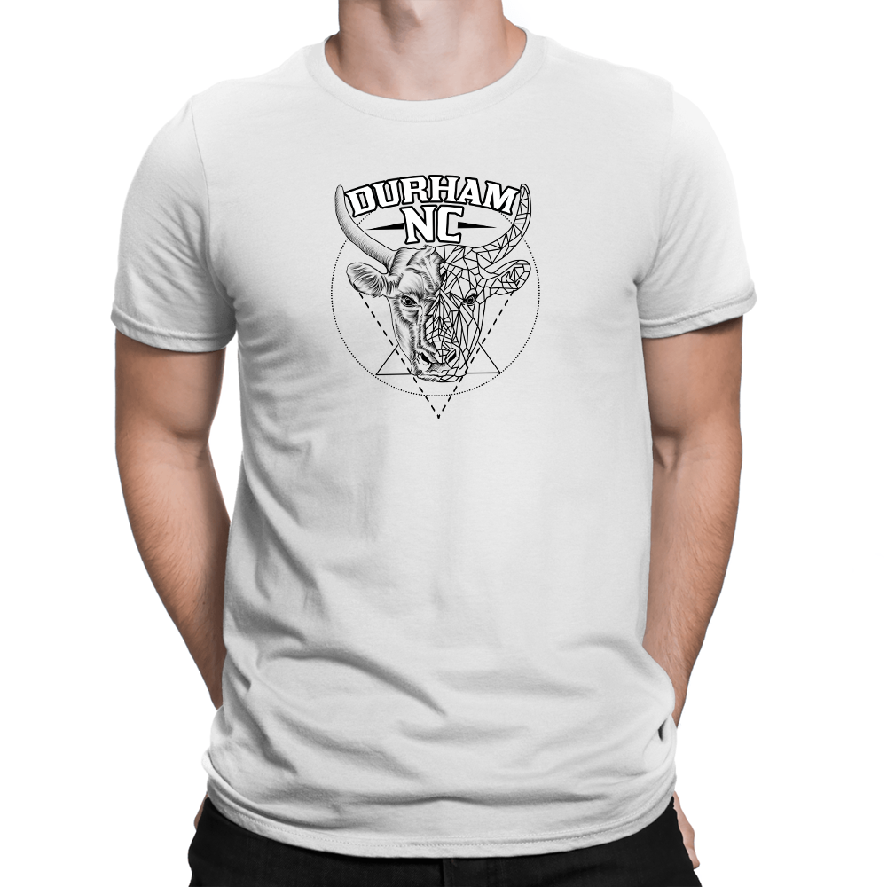Durham Geometric Bull Head  Men's T-Shirt - HEATHLEAF