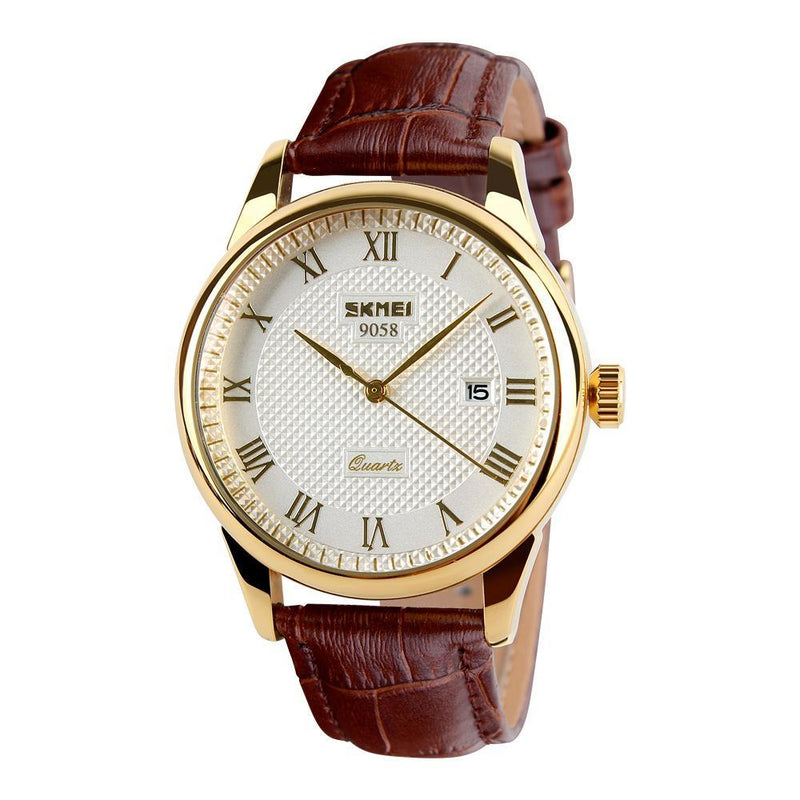 Textured Face Luxury Business Watch - HEATHLEAF