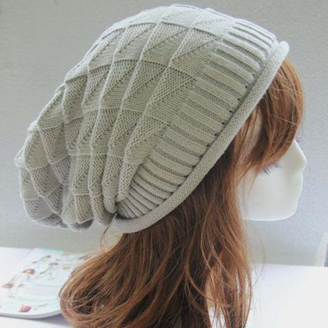 Knitted Crochet Casual Beanie - HEATHLEAF