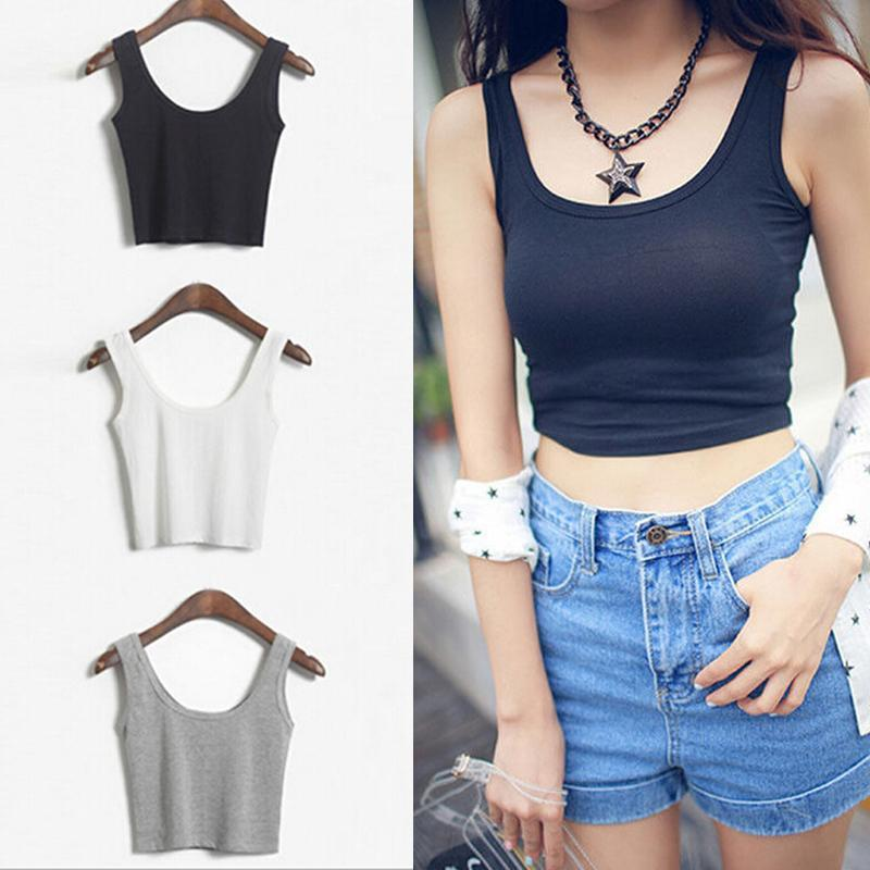 Women's Croptop Tank Top - HEATHLEAF