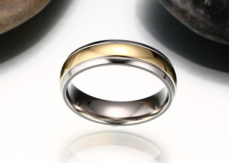Gold and Silver Titanium Ring - HEATHLEAF