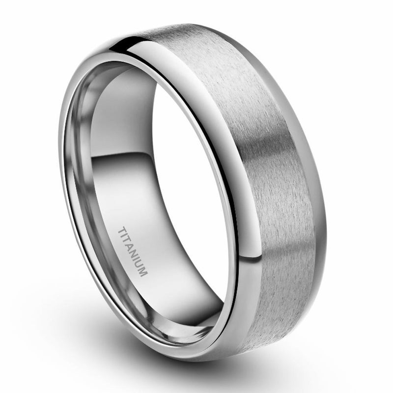 Silver Brushed Titanium Ring - HEATHLEAF