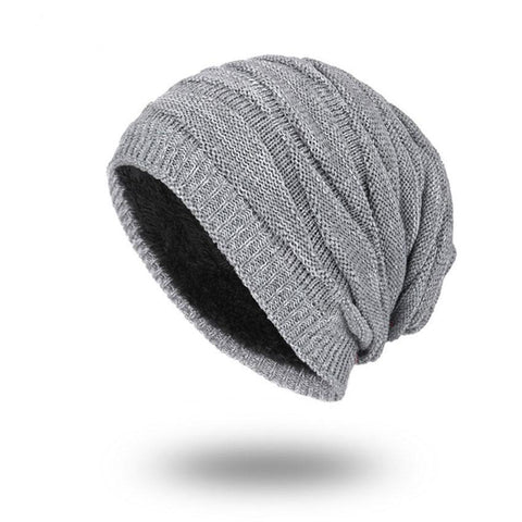 Solid Color Winter Beanies Plain Warm Soft Skull Knitting Cap Hats