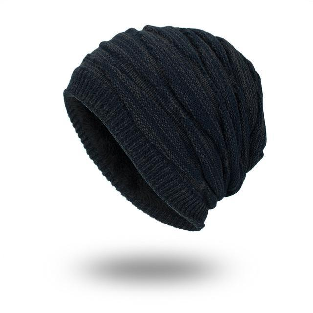 Warm Knitted Pattern Beanie - HEATHLEAF
