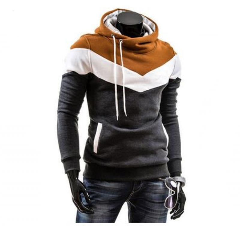 Winter Sports Fashion Hoodie Dark Gray and Brown